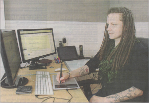 Times and transcript article Inkedkoi Designs