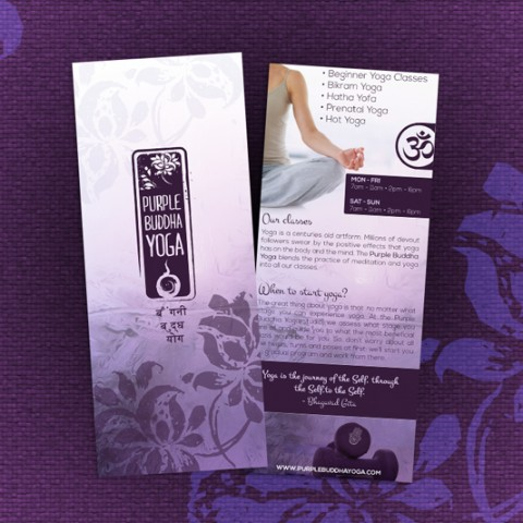 Purple Buddha Yoga Rack Card
